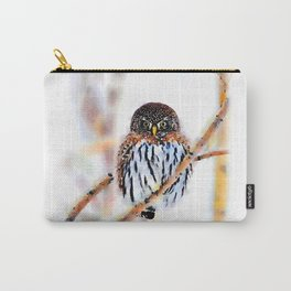 Winter Owl Watercolor Carry-All Pouch
