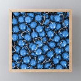 Kettlebells BLUE Framed Mini Art Print