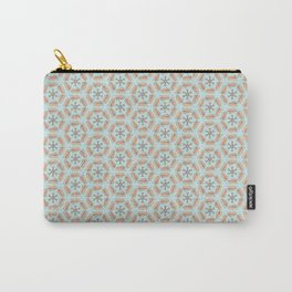 P's & V's (in Hexagons)- mini print Carry-All Pouch