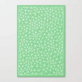 Connectivity - White on Mint Green Canvas Print