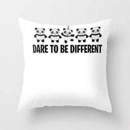 Panda Unicorn Colorful Pandicorn sweet gift Throw Pillow
