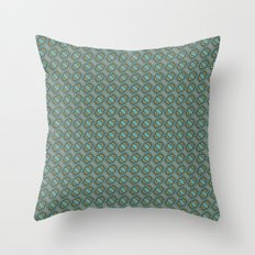 Graphic Old Fashioned Leaf Lattice Pattern Throw Pillow