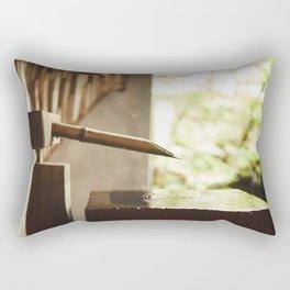 Japanese zen fountain Rectangular Pillow
