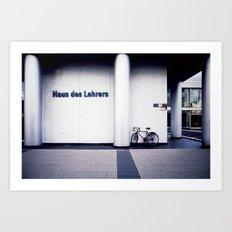 house des lehrers Art Print