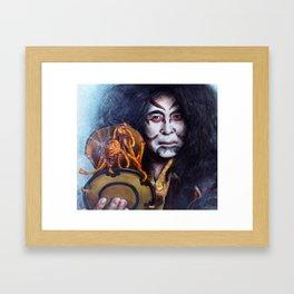 ' Kabuki Drummer '  digital portrait painting Framed Art Print