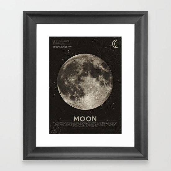 The Moon Framed Art Print