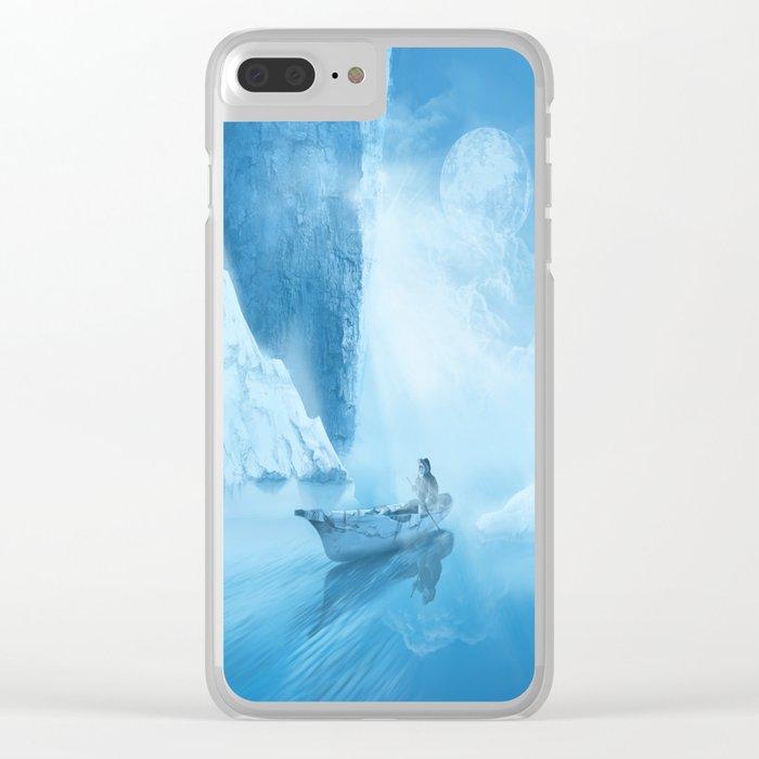 white landscape Clear iPhone Case
