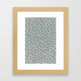 Ditsy Flora Green Framed Art Print