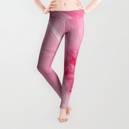 Pink Fairy Blossom Fractal Leggings