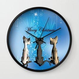 Funny cartoon cats Wall Clock