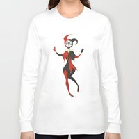 harley Long Sleeve T-shirts featuring Harley Quinn by taryndraws