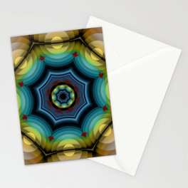 big dots fractal madala Stationery Cards