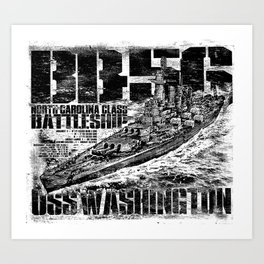 Battleship Washington Art Print