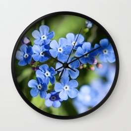 Forget Me Not Photography Print Wall Clock