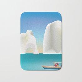 Capri, Italy- Skyline Illustration by Loose Petals Bath Mat