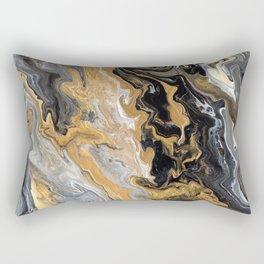 Gold Vein Marble Rectangular Pillow