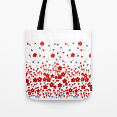 Flowers and Hearts Tote Bag
