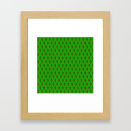Hops Green Pattern Framed Art Print