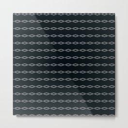 Minimalist Black White Design Metal Print