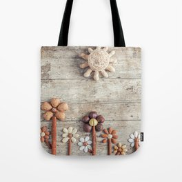 Dried fruits arranged forming flowers (3) Tote Bag