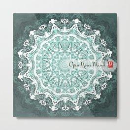 Mandala - Open Your Mind Metal Print