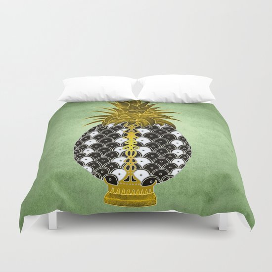 Pineapples are a jewel Duvet Cover