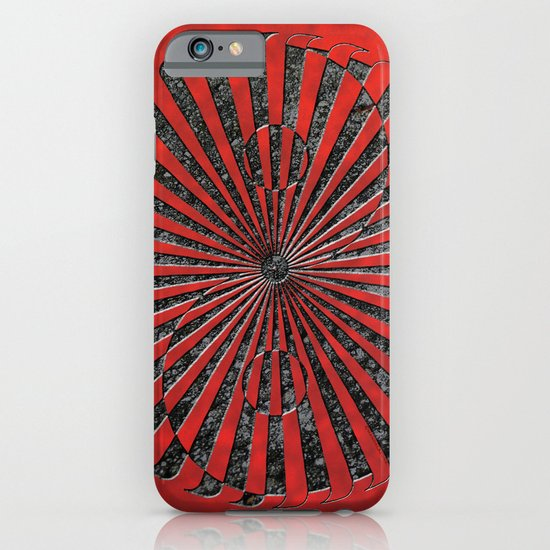 yin yang stone red iPhone & iPod Case