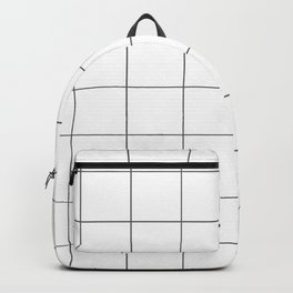 Graph Paper (Grey & White Pattern) Backpack