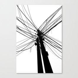 Electric Pole Canvas Print