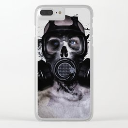 Zombie Warrior Clear iPhone Case