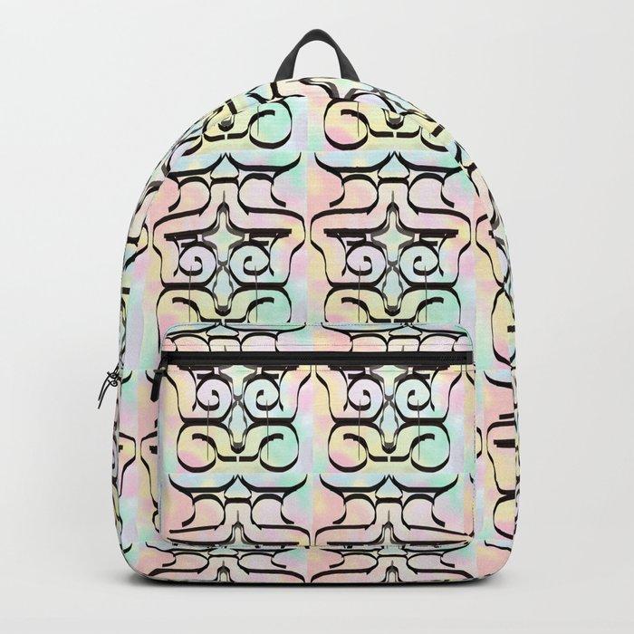 the avant-garde in pastel colours . Japanese illustration Backpack