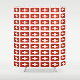 flag of Switzerland -,Swiss,Schweizer, Suisse,Helvetic,zurich,geneva,bern,godard,heidi Shower Curtain