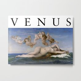 The Birth of Venus, Cabanel Metal Print