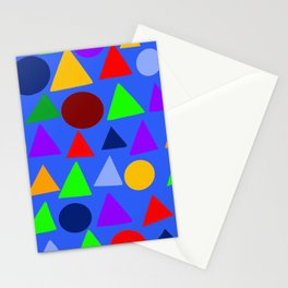 Circle and triangle variation on a design blue Stationery Cards