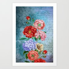 Wall Flowers Art Print