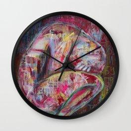 How the Sadness Swells/I Recall A Wonderful Moment (Pushkin) Wall Clock