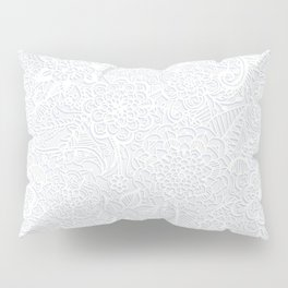 Embossed Powder & Pearl Lace Pillow Sham