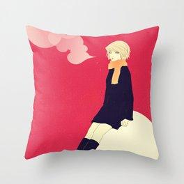 Snow ball Throw Pillow