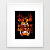 heavy metal Framed Art Prints featuring Heavy Metal by Lindsay Spillsbury