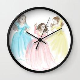 Sisters at Work Wall Clock