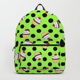 Sweet Cherry Cupcake Picks Dots Backpack
