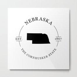 Nebraska - The Cornhusker State Metal Print