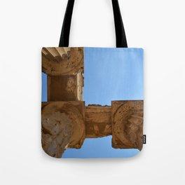 Temple of Hera Pillars   Ancient Ruins Photography   Blue sky  Tote Bag