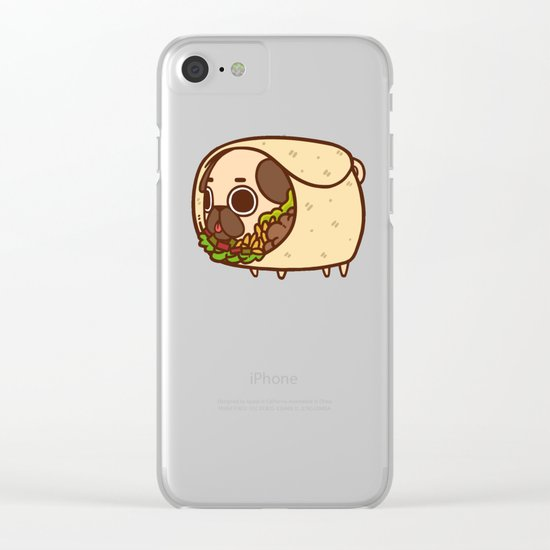 Puglie Burrito Clear iPhone Case