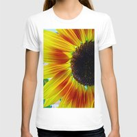 sunflower T-shirts featuring Sunflower by Frankie Cat