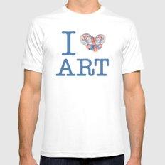 I Heart Art Mens Fitted Tee White MEDIUM