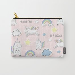 Unicorn - light pink Carry-All Pouch