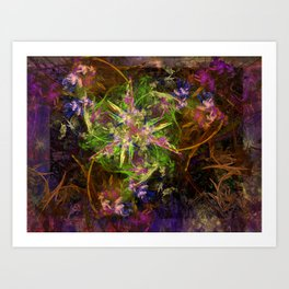Fractal Floria Art Print