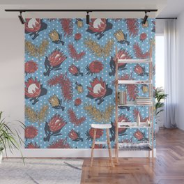 Australian Native Flowers - Grevillea and Protea Wall Mural