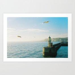 Leaving Dover Art Print